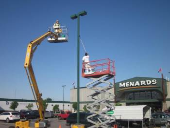 commercial painting job for the local Menards