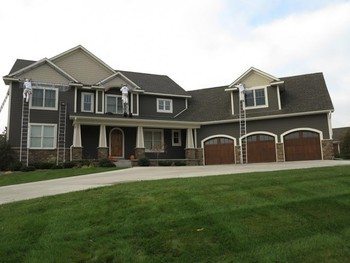 Painted the interior and exterior of this home in New Construction in Lake Elmo, MN